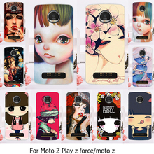 Phone Case For Motorola Moto Z Force Play X4 Edition Verizon Vector maxx Droid 2016 XT1635 XT1650 XT1650-05 Lady Girl Cover Skin
