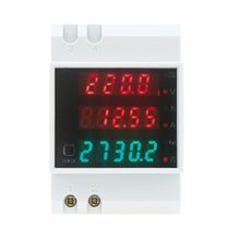 MYLB-100A AC80 - 300V digital multifunctional DIN Rail Voltage Meter Voltmeter White Power Factor(China)