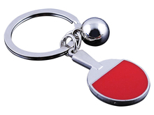 1 Pcs New Arrive Table Tennis Racket Ping-Pong Bat Silver Alloy Key Ring Collectable Key Chain(China)
