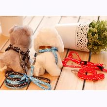 2017 Hot Sale Small Nylon Dog Pet Puppy Cat Adjustable Harness with Lead Leash 5 Colors to Choose Free Shipping
