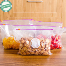 10PCS Storage Zipper Bag Fresh Food Snack Clip Grip Coffee Plastic Clear Ziplock Reclosable Clothing Storage Bag Travel Camping(China)