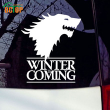 Winter Is Coming Wolf Game of Thrones Car Sticker Decorative Head Of Wolf Car Stickers Vinyl Window Waterproof Auto Decals