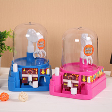 Mini Music Candy Machine Electric Candy Crane Toys Funny Doll Grabber Machine Candy Catcher Claw Vending Machine Party Fun Kids(China)