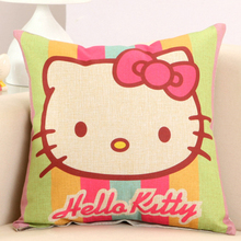 New Year Xmas Gift Hello Kitty Cute Cat Cushion Include Stuff Fill Core Girl Kids Birthday Present Sofa Car Back Pillow Backrest(China)