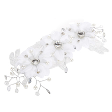 Bridal Hair Accessories Handmade Rhinestone Headbands Bridal Lace Floral Crystal Pearl Hairpin Wedding Tiaras Korea Hair Jewelry