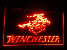 b107 Winchester Firearms Gun Logo beer bar pub club 3d signs LED Neon Light Sign(China)
