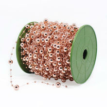 30 Meters  Party DIY decoration Pearls Beads Chain Garland Flowers Wedding Party Decoration Products Supply Rose Gold