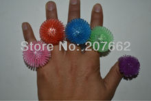 Free shpping 5pcs/lot Soft Flicker flower fashion soft silicone led finger ring led finger light led ring for wedding