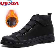 Buy UEXIA Warm Winter Leather Boots Men Outdoor Rubber Leisure Martin Snow Boots Shoes Men Comfortable Work Safety Causal High for $27.73 in AliExpress store