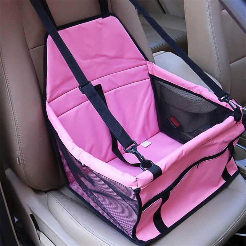 Pink Color Waterproof Washable Deluxe Pet Carrier Car Travel Bag for Dog, Cat