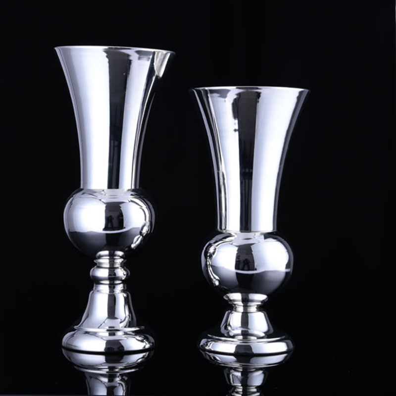6pcs Metal Vase Flower Pot Set Home Decoration Dining Table Tv Cabinet Crafts Event Wedding