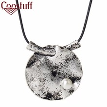 Beautiful Lotus leaf necklaces & pendants Vintage Long Necklaces for women 2017 New Fashion Men Jewelry statement necklace Women(China)