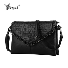 YBYT brand 2017 new chains alligator handbag hotsale women envelope clutch ladies mobile purse shoulder messenger crossbody bags