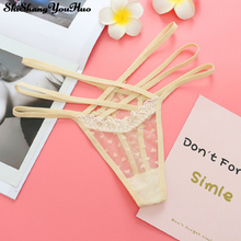 Buy New Style Women Sexy Underwear Heart Lace Sexy Panties Hollow Transparent Panties Seamless G String Thongs Tangas Culotte Femme