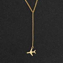1pcs Gold / Silver Airplane Pendant with 43+5cm Adjustable Chain Layered Necklace For Women Tiny Dainty Necklace Wholesale