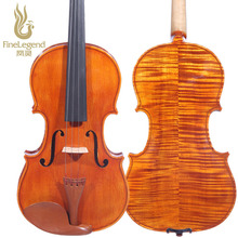 High Grade FineLegend 4/4 Full Size Handmade Alcoholic Paint Professional Violin Solid Spruce Maple with Bow Case Rosin LCV3112