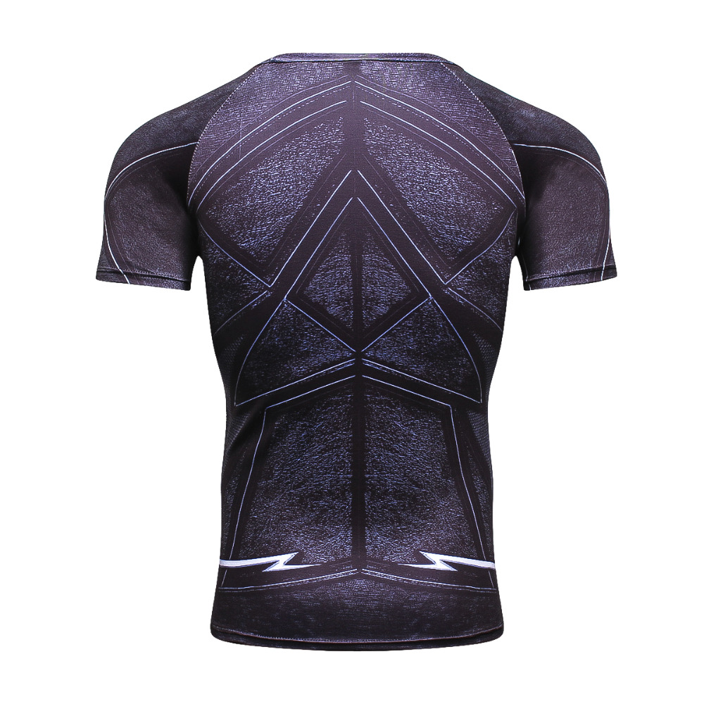 ZOOM 3D Printed T-shirts Men Compression Shirt Raglan Short Sleeve Flash Cosplay Costume Quick Dry Crossfit Clothing Tops Male