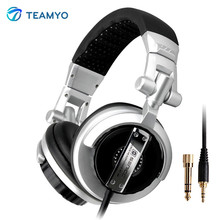 Foldable Pro Music Fever Hifi Monitor Headphones Auriculares Super Bass Noise-Isolating DJ Headset Without Mic Stereo Headphone(China)