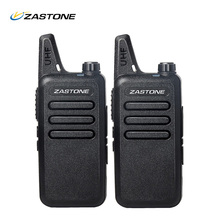 2Pcs/lot New ZT-X6 UHF 400-470 MHz Black handheld transceiver cb radio mini radio walkie talkie ZASTONE Portable Walkie Talkie(China)