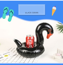 Swan Unicorn seats set Inflatable water INS Coke cup phone Drink Party Raft Holder Swimming Float bathing toys Summer pool  DS19