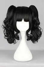 MCOSER New Lolita Black Two Ponytail Cosplay Wigs Cos Wig