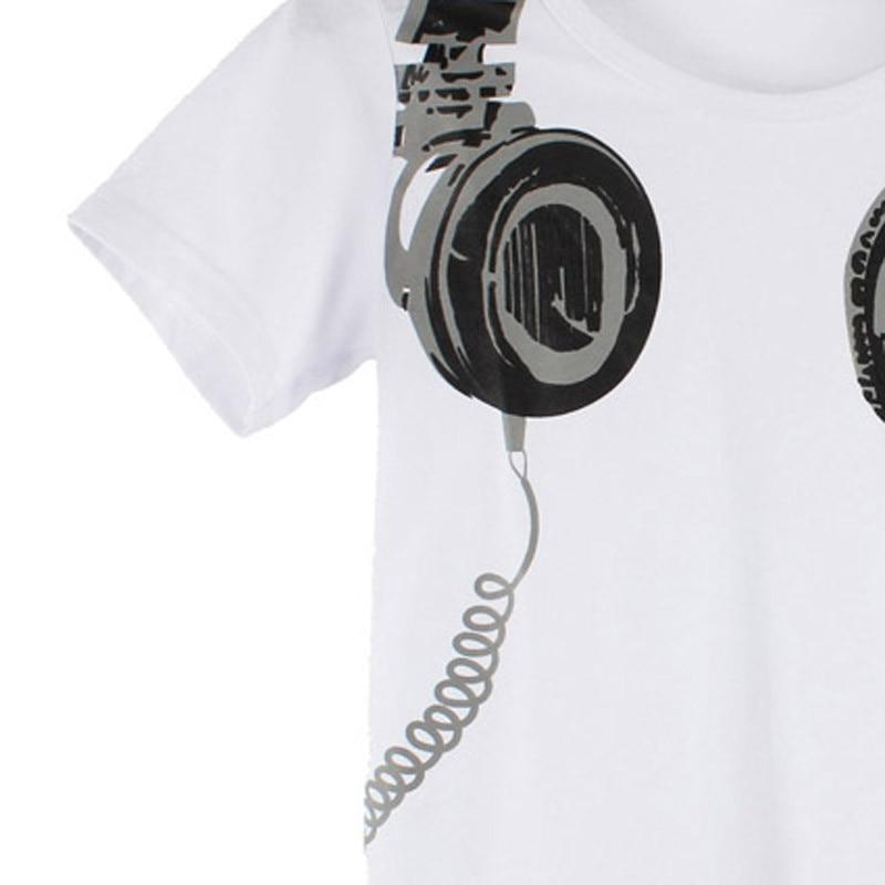 Toddler Boy Headphone Print Children T-shirts 21