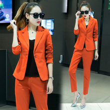 Female professional suite 2017 Spring and Autumn new ladies Slim stylish two-piece suit tide.two piece set(China)