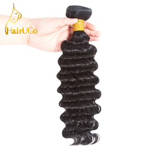 HairUGo Malaysian #1B Pre-colored Deep Wave Hair Weave Bundle 1 Pcs Hair Extension 1 Bundle 8-26 Inch Hair Extension(China)