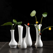Ceramic white vase decoration modern brief home decoration soft small flower gifts
