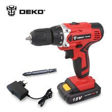 DEKO LCG18VDU 18V DC Household DIY Woodworking Lithium-Ion Battery Cordless Drill/Driver Power Tools Electric Drill Power Drill