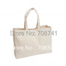 TCC002,Free Shipping,100pcs/lot,40X35X12cm,Nature Cotton Canvas Tote Bag,Wholesale Canvas Grocery Bags,Custom Size Logo Accept