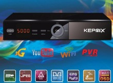 10pcs freesat v7 auto update powervu Kepnix satellite receiver 2*usb port supports wifi Youpron AV coutput AC3 biss ccam