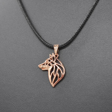 Sykesha 2018 Lovers' Swedish Vallhund Rope Chain Jewelry Necklaces Rose Gold Dog Pendant Necklaces For Women Drop Shipping(China)