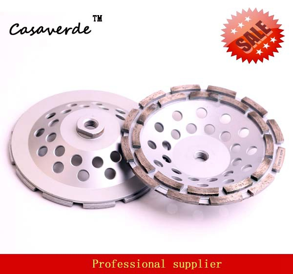 DC-DRCW D180mm (7 inch) double row 7 inch concrete grinding wheels for stone and concrete floor grinding<br>