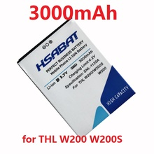 HSABAT 3000mAh Mobile Phone Battery for THL W200 w200s W200C Phone
