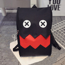 Women backpack Cartoon emoji backpack Cute canvas school bags for teenagers School Shoulder travel anime bag mochila escolar