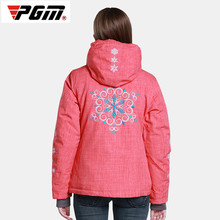 2017 Winter Ski Clothing Waterproof Cold Breathable Thickening Ladies Cotton Mountaineering Clothing Jackets