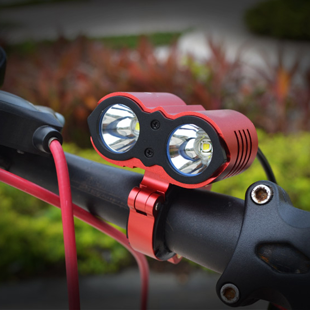 Walkefire U2 Bicycle Light HeadLight 2400 Lumens Cycling LED Light 3 Mode Waterproof Bike Front Light HeadLamp with Battery Pack<br>