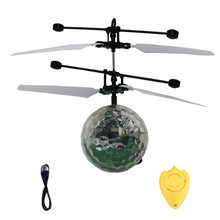 Kids RC Flying Ball Helicopter Toys Drone Helicopter Ball Built-in Shinning LED Lighting Toy for Kids Colorful Flyings(China)