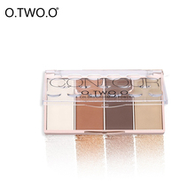 O.TWO.OWaterproof Bronzers Blusher Makeup Grooming Powder With Pressed Powder Contour Highlighter Shading Naked Nude Maquiagem(China)