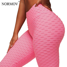 Buy NORMOV Solid Sexy Push Leggings Women Fitness Clothing High Waist Pants Female Workout Breathable Leggings Femme 6 Color for $11.55 in AliExpress store