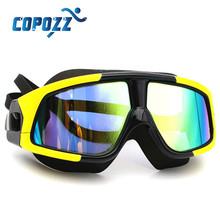 coppoz Brand Waterproof Multicolor Anti-fog Swim Eyewear Male Female Professional Plastic UV Protection Swiming Goggles Glasses
