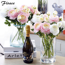 Floace Artificial flowers silk flower home arts decorative furnishings peony flowers