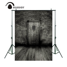 Allenjoy photography backdrop Vintage brick wall door wood floor background photo backdrop studio camera fotografica(China)