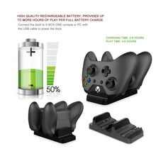 Dual Charging Dock Station Charger Stand for XBOX ONE Wireless Gamepad Gaming Controller With 2 Rechargeable Battery USB Cable