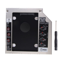 Universal Aluminum 2.5 inch SATA to SATA 2nd HDD Caddy for all 9.5mm Laptop Optical Drive CD/DVD-ROM