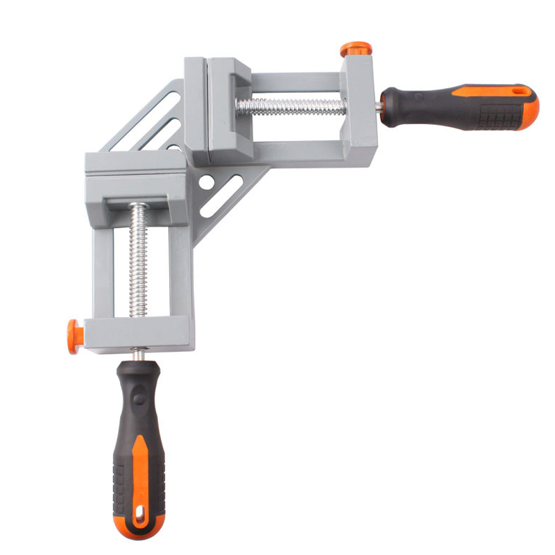 Double Handle Aluminum 90-degree Right-angle Clamp Woodworking Clip Fish Tank Photo Frames Spell Angle Folder Tool<br>