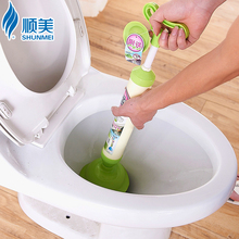 New Boutique Handle Powerful vacuum Suction Plunger Toilet suction Dredger Cleaner Drain Buster with Suckers Sink Cleaning Tool(China)