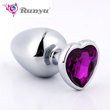 Buy Small/Large Anal Beads Metal Anal Plug Crystal Jewelry Smooth Touch Butt Plug Vibrator Anal Tube Sex Toy Men/Women