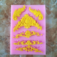 new European Style Relief Lace Silicone Molds Fondant Cake Chocolate Mold Kitchen Baking Cake Border Decoration Tools
